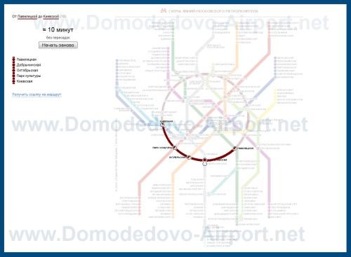 Схема проезда из аэропорта Домодедово во Внуково на аэроэкспрессах и метро