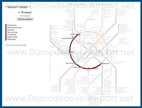 Схема проезда из аэропорта Шереметьево в Домодедово на аэроэкспрессах и метро