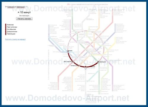 Схема проезда из аэропорта Внуково в Домодедово на аэроэкспрессах и метро.