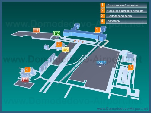 Схема территории аэропорта Домадедово с парковками